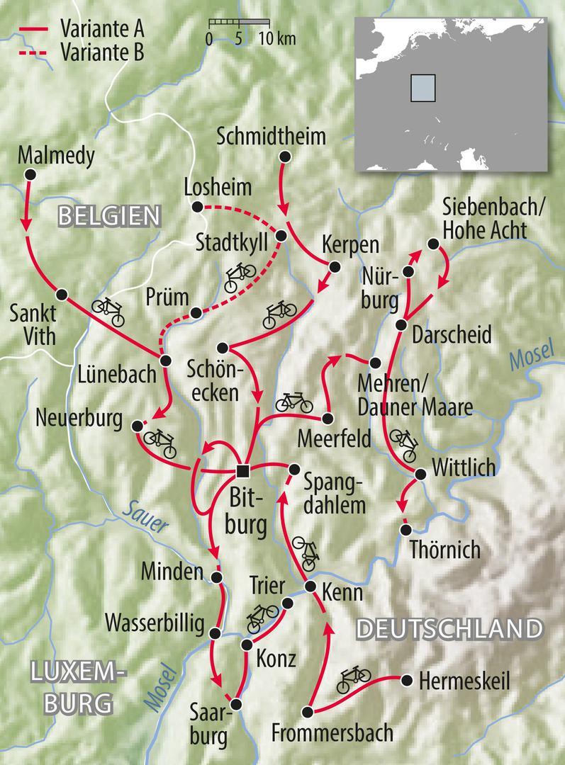 Rennradtour Eifel Deutschland