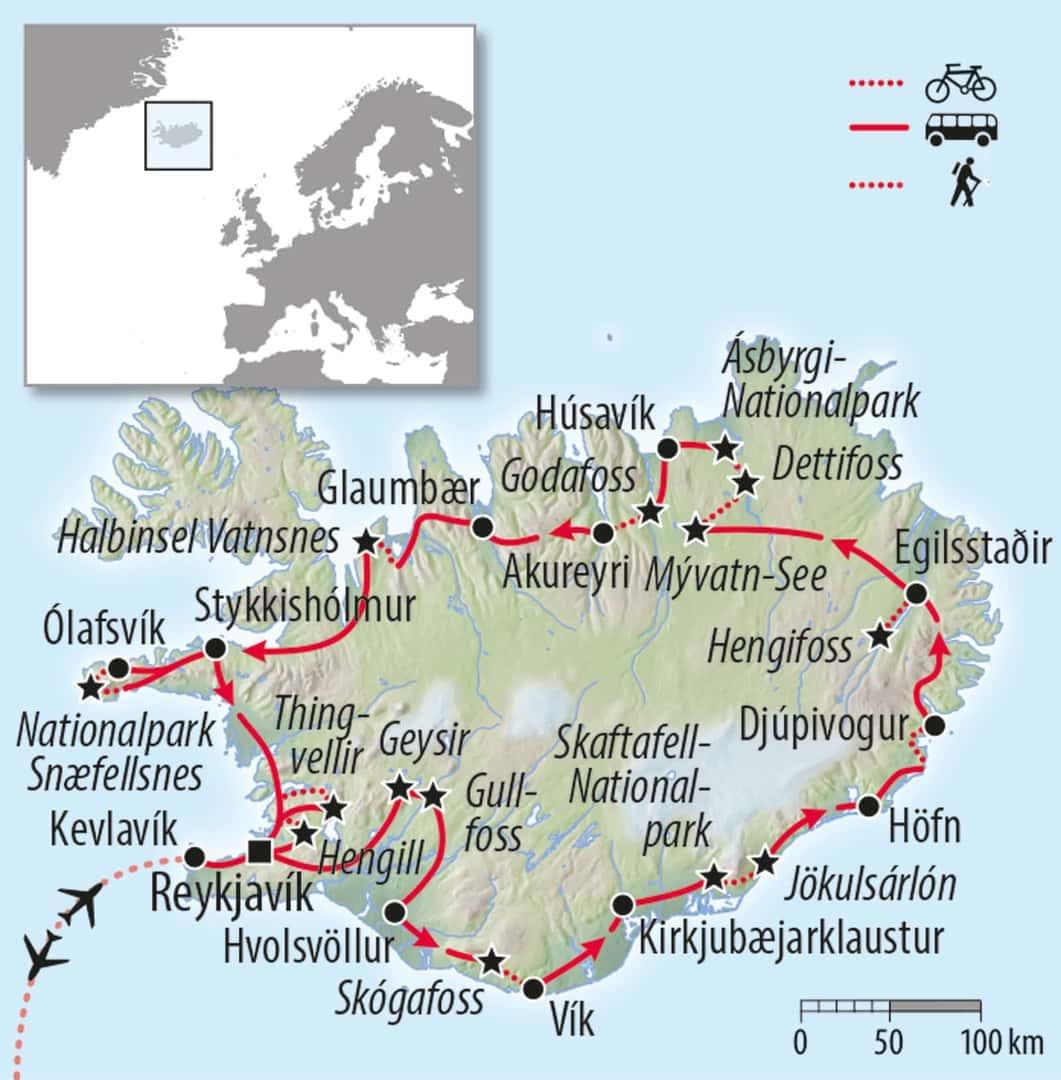 Island Aktivreise