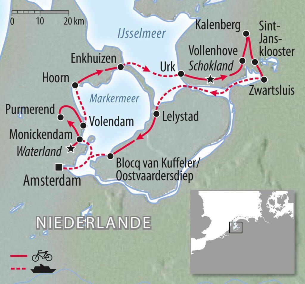 Rad- und Segelreise Ijsselmeer Holland