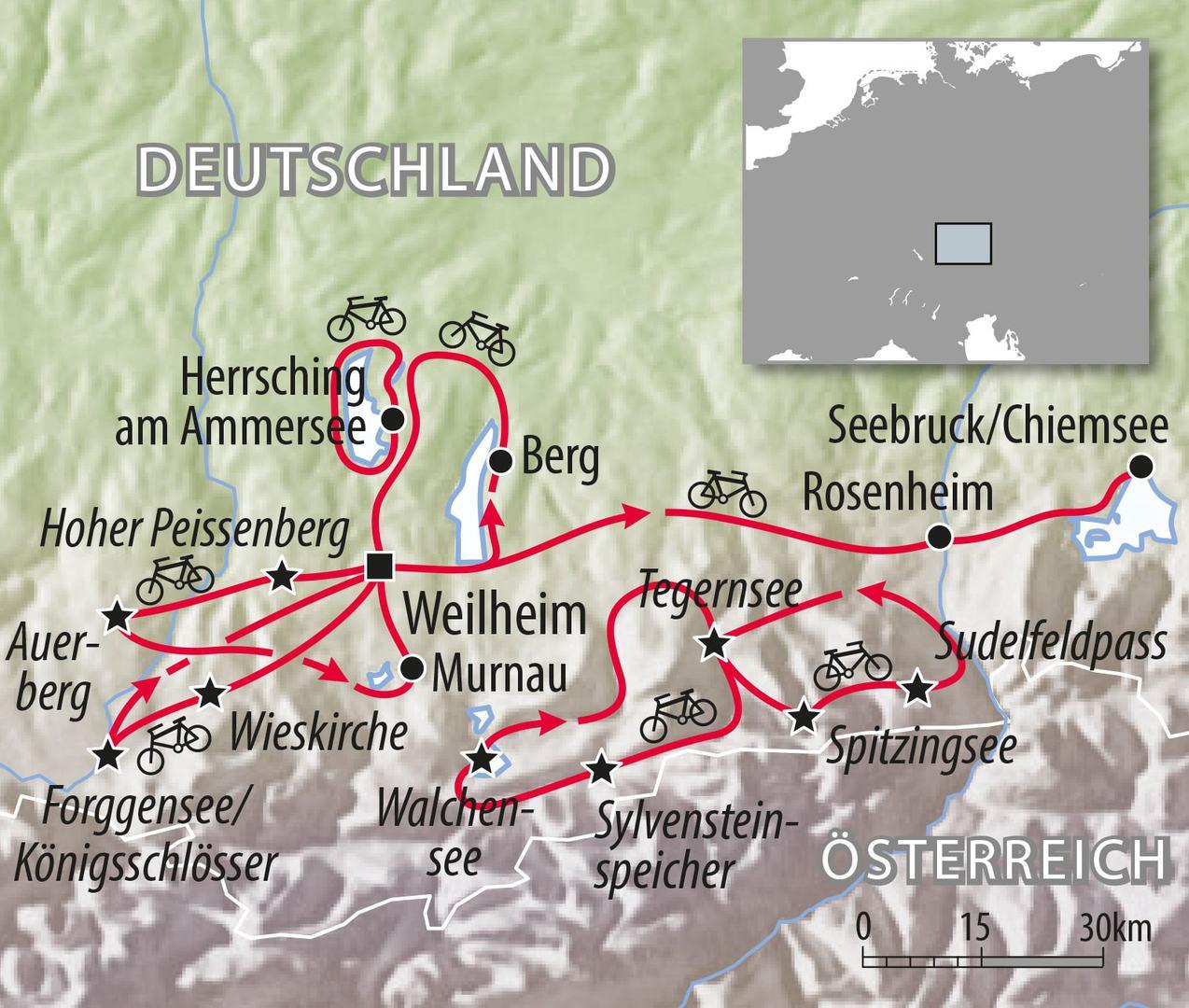 Rennradreise Bayern Alpen Allgäu Deutschland