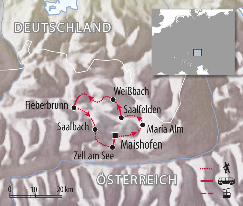 Wandertour Salzburger Land Kitzbüheler Alpen in Österreich