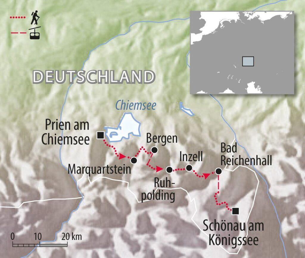 Wandern Salzalpensteig Fernwanderweg Deutschland Chiemsee zum Königssee