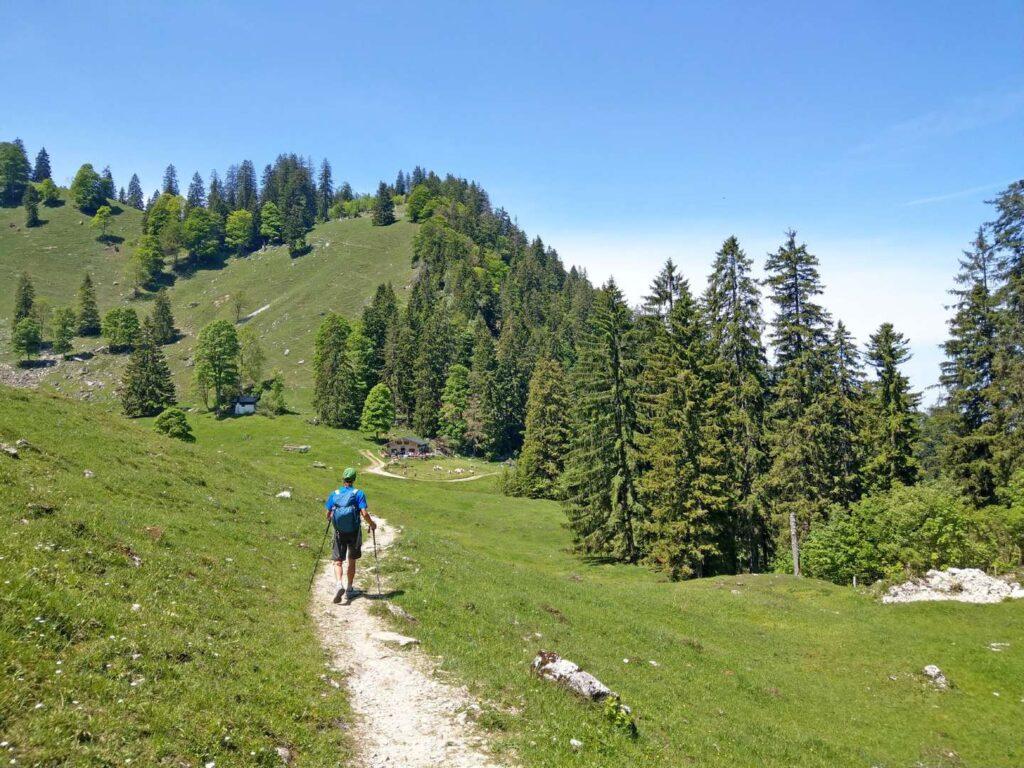 Wanderweg Salzalpensteig in Bayern Chiemsee zum Königsee