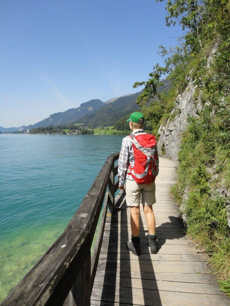 Wanderweg Österreich Wolfgangsee Salzkammergut Bürglsteig