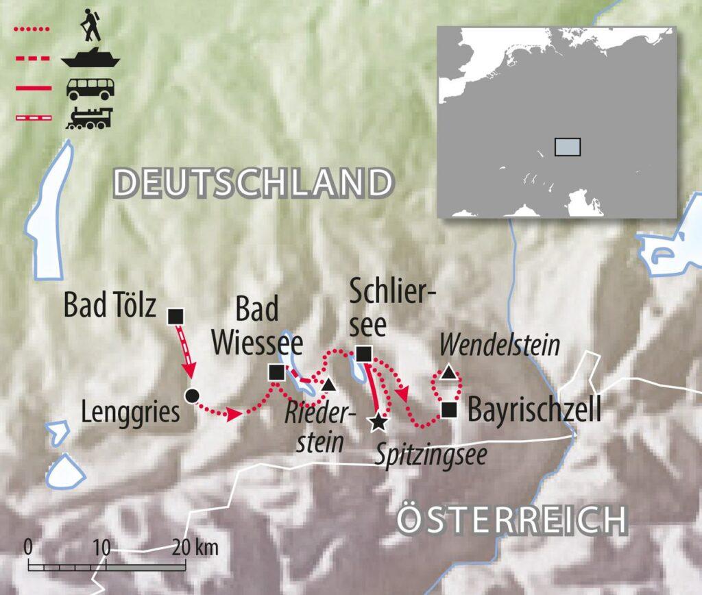 Wandern Bayern Alpen in Deutschland und Wendelstein