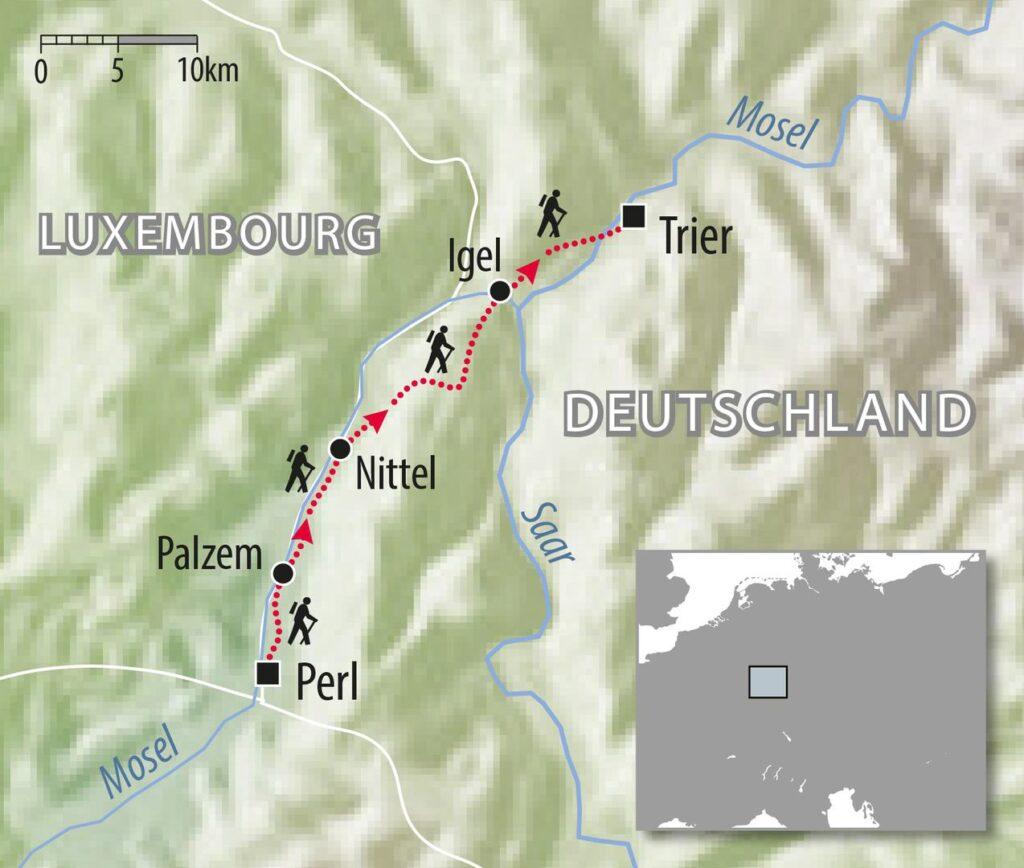 Wanderweg Mosel Steig Deutschland individual