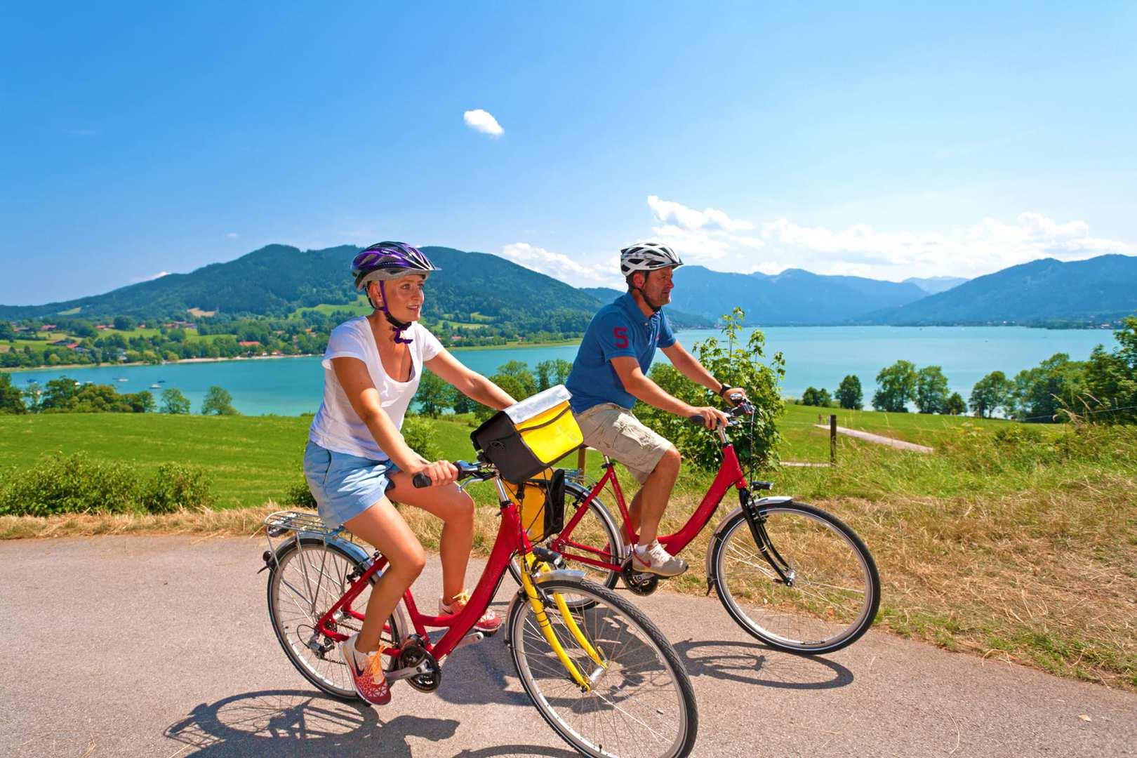 Fahrrad fahren München und Seen in Bayern