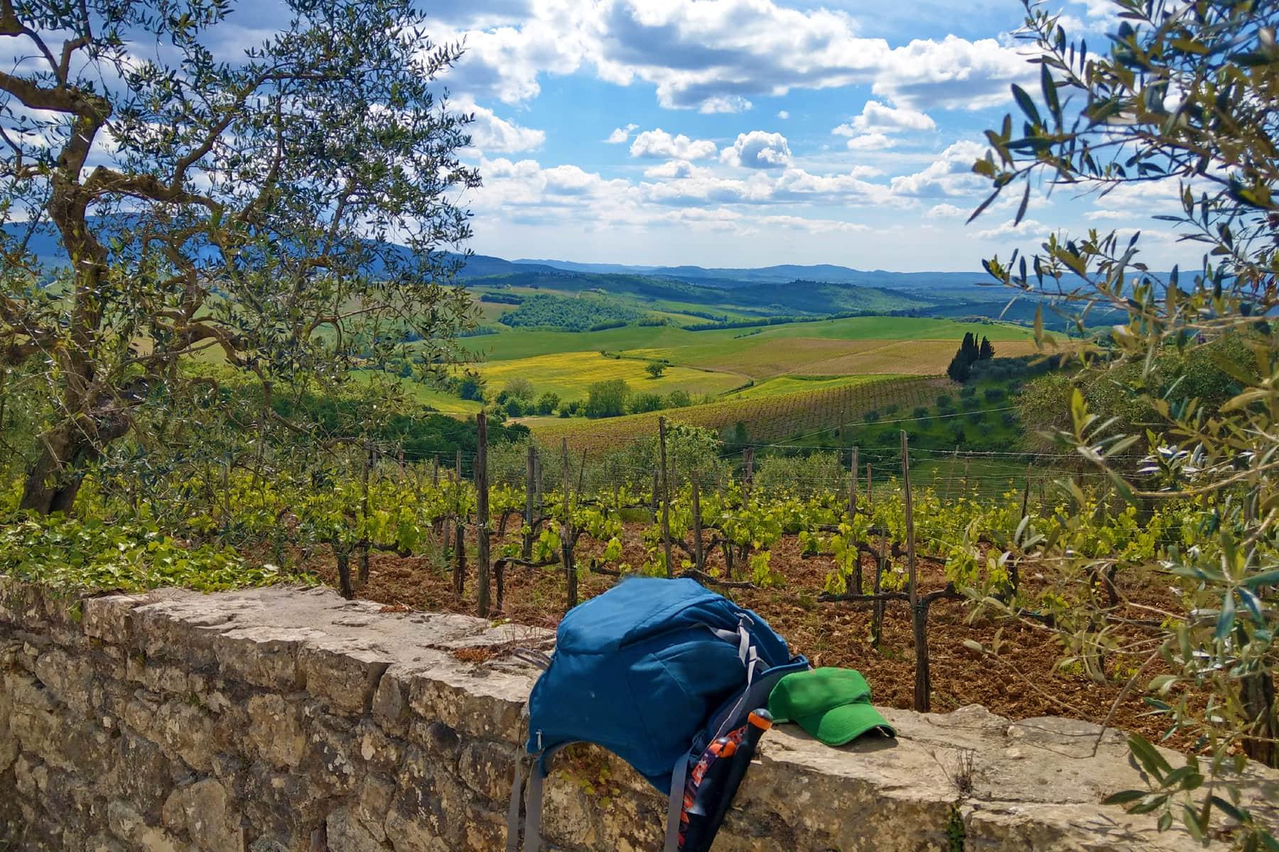 Italien Wanderweg Toskana