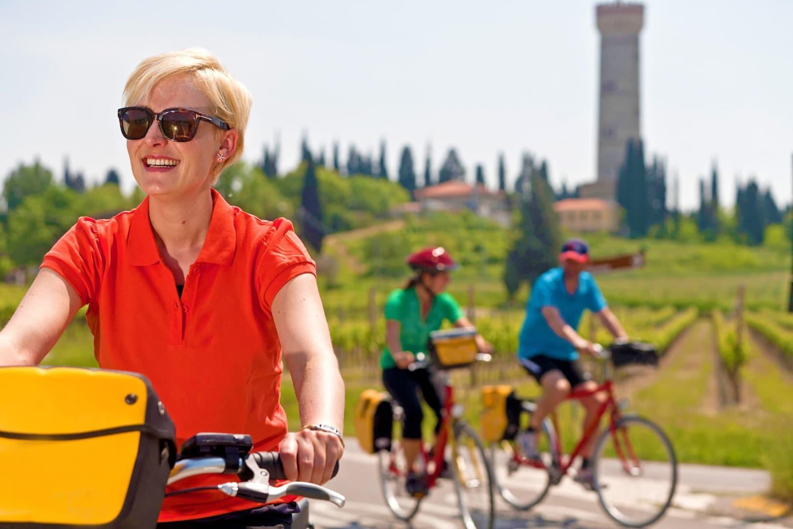 Fahrradtour Reschensee nach Verona Italien