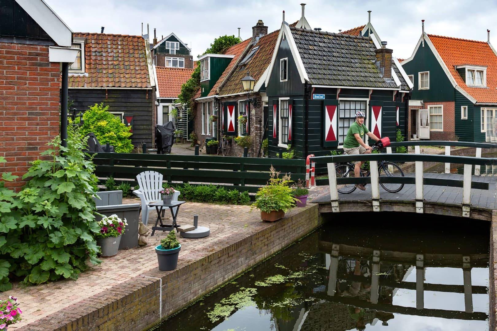 Fahrrad fahren Holland Ijsselmeer Niederlande