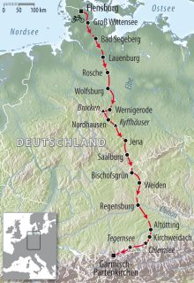 Rennradtour Flensburg Garmisch Deutschland