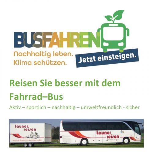 Nachhaltig sicher unser Reisebus Logo Titel
